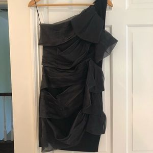Valentino Black One Shoulder Mini Dress size S